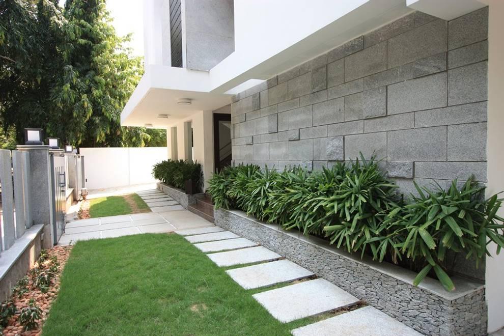 Jardins modernos por Ansari Architects