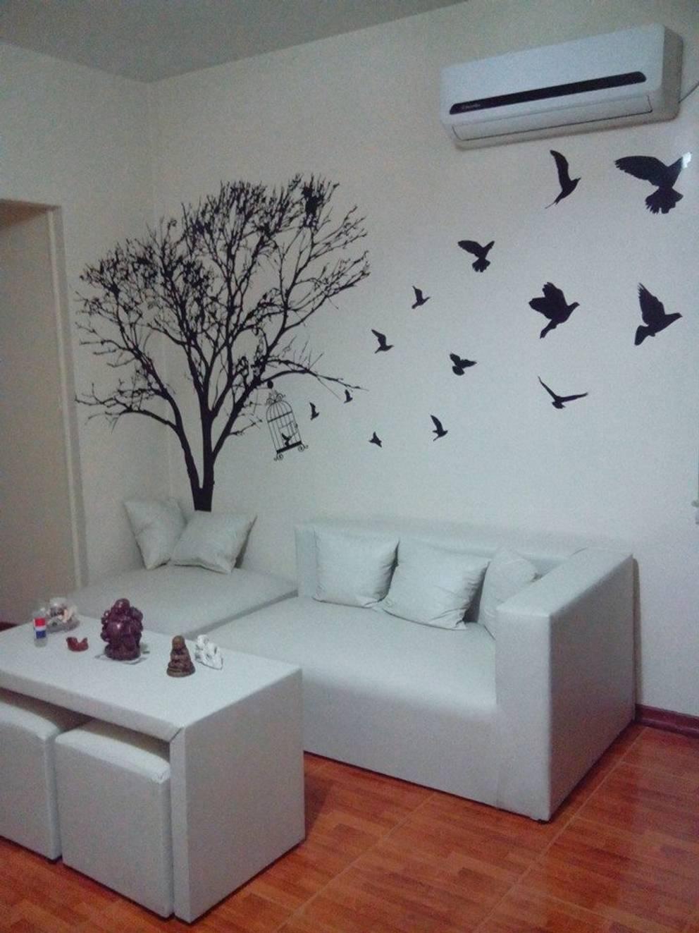 Projekty,  Salon zaprojektowane przez Vinilos Impacto Creativo