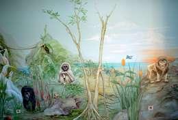 Dschungel - Kinderzimmer: ausgefallene Kinderzimmer von Wandmalerei & Oberflächenveredelungen