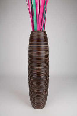 Bodenvase - 90cm hoch - Mangoholz:  Haushalt von Leewadee GmbH