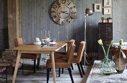 BePureHome eettafel Oxford, stoelen Rodeo en metal Sheet: scandinavische Eetkamer door BePureHome