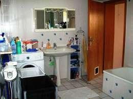 Bad vorher: rustikale Badezimmer von ImmoLotse24