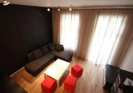Wohnung Berlin-Prenzlauer Berg: moderne Wohnzimmer von RAUMAX GmbH