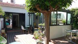 Villa Giulia _Véranda style verrière: Terrasse de style  par MAAD Architectes