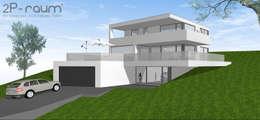 Bauhaus Villa am Hang: moderne Häuser von 2P-raum® Architekten