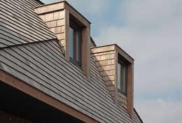 villa aan het spaarne: landelijke Huizen door derksen windt architecten