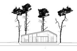 Schnitt BB: moderne Häuser von homify