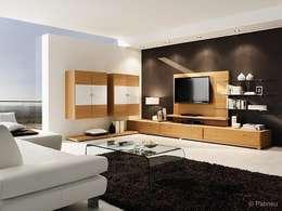 Salas de estilo moderno por LIGNUM Möbelmanufaktur
