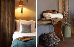 hotel bedroom: rustikaler Flur, Diele & Treppenhaus von c+c interiors berlin
