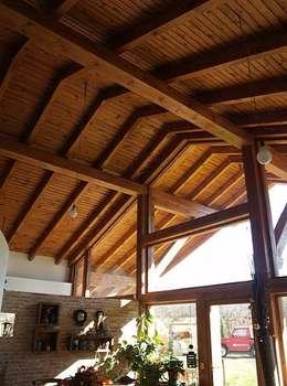 Ingresso, Corridoio & Scale in stile in stile Rustico di Manuel Monroy, arquitecto