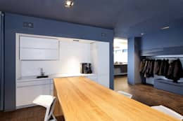 Zentraler Kommunikationsbereich:  Geschäftsräume & Stores von a-base I büro für architektur