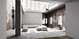 industrial Living room by marc benjamin drewes ARCHITEKTUREN