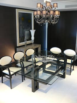 IOS - Moderner Tisch (Glasplatte): moderne Esszimmer von homify