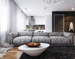 Livings de estilo minimalista por Angelina Alekseeva