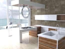 moderne Keuken door MUMARQ ARQUITECTURA E INTERIORISMO