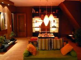 asian Living room by Innenarchitektin Claudia Haubrock