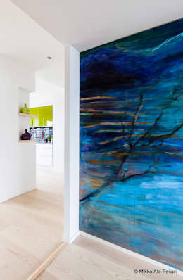 Casa di Juhana: Soggiorno in stile in stile Scandinavo di Maurizio Giovannoni Studio