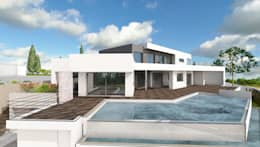 10 esempi di case moderne dal tetto piano for Prospetti di villette