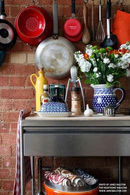 industrial Kitchen by Cassidy Hughes Interior Design