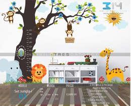 Vinilo Decorativo Jungla : Recámaras infantiles de estilo moderno por Vinilo314