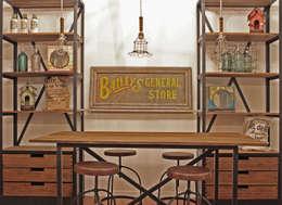 Bar tipo industrial: Comedores de estilo industrial por Estación Ortiz