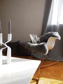 Projekty,  Salon zaprojektowane przez Münchner home staging Agentur GESCHKA