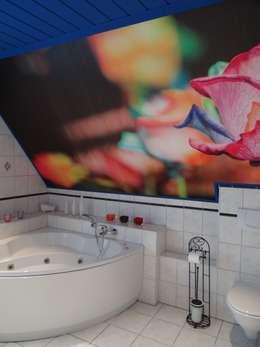 Nachher - Ungewöhnliche Ausblicke im alten Bad: ausgefallene Badezimmer von INTERIORDESIGN - Jedes Geschäft braucht ein Gesicht. Jede Wohnung eine Seele