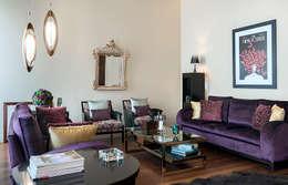 VIVIENDA EN EL BARRIO DEL CARMEN (VALENCIA): Salones de estilo  de Cota Cero Interiorismo