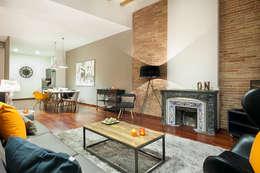 Home Deco Decoración: endüstriyel tarz tarz Oturma Odası