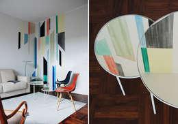 MOROZZO APARTMENT  Living room: Soggiorno in stile in stile Moderno di FTA Filippo Taidelli Architetto