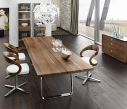 Nox Dining Table: modern Dining room by Wharfside Furniture