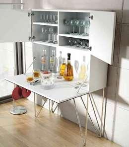 Rinconeras de cocina coquetas que ahorran espacio - Mueble bar moderno ...