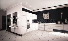 Проект интерьера трехкомнатной квартиры: Кухни в . Автор – Гурьянова Наталья