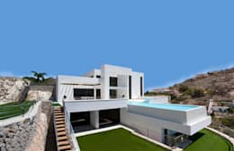 Projekty, nowoczesne Domy zaprojektowane przez Spainville Inmobiliaria