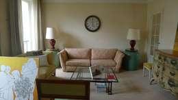 Before Living room: Salon de style de style Classique par Lichelle Silvestry Interiors