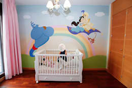 Mural infantil con los personajes de la película Aladino:  de estilo  de MURALES MARAVILLOSOS