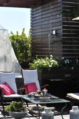 Projekty,  Dach płaski zaprojektowane przez Giardini Giordani