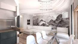 Квартира в Ж/К Центральный г. Краснодар: Гостиная в . Автор – Студия Маликова