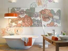 Baños de estilo ecléctico por BARASONA Diseño y Comunicacion