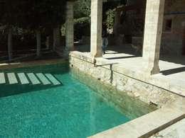 Piscine de style de style Méditerranéen par Fincas Cassiopea Group
