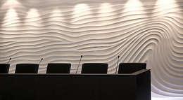 Vague en fond de mur: Murs & Sols de style de style eclectique par Philippe Ponceblanc Architecte d'intérieur