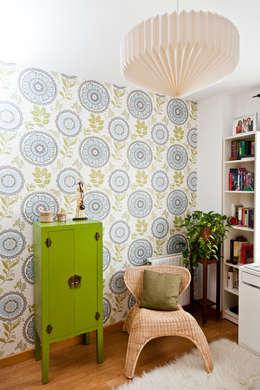 Projekty,  Domowe biuro i gabinet zaprojektowane przez www.rocio-olmo.com