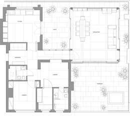 casa t: Case in stile in stile Asiatico di Piano B Architetti Associati