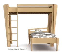 Lit mezzanine TrapèZe de ZineZoé: Chambre d'enfants de style  par ZineZoé