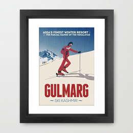 Affiche vintage Gulmarg: Couloir, entrée, escaliers de style de style eclectique par CosyNEVE