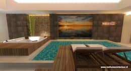 moderne Spa door RON Stappenbelt, Interiordesign