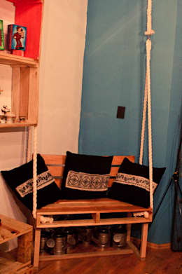 Muebles de pallet: Jardín de estilo  por amiko espacios