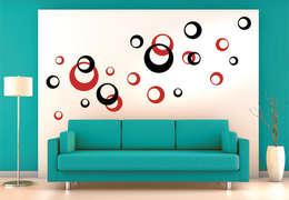 Wandtattoo - Retro Kreise (2-farbig) :  Wände & Boden von K&L Wall Art