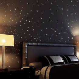 Wandtattoo Leuchtsterne 255 Stk. (als Punkte dargestellt): ausgefallene Kinderzimmer von Wandtattoo-Loft