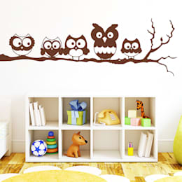 eclectic Nursery/kid's room by Wandtattoo-Loft